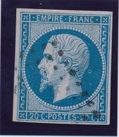 20 C Bleu N° 14 Avec Variété TB. - 1853-1860 Napoléon III