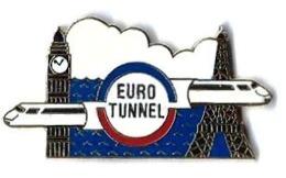 EUROTUNNEL - E386 - BIG BEN Et TOUR EIFFEL + SIGLE Avec TGV - Verso :A.B. - TGV