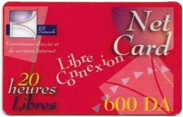 Algeria - KB Network - NetCard Libre Connexion, Exp.01.10.2003, Prepaid 600DA, Used - Algérie