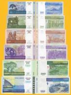 Madagascar Set 100, 200, 500, 1000, 2000, 5000 Ariary 2004-2008 UNC Banknotes - Madagascar