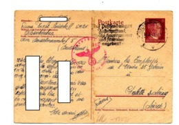 Carte Postale 15hitler Flamme Gelsenkirchen  Adresse Censure Controlé - Germania