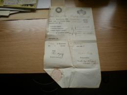 Old School Diploma 1846 In Gimnasio 6 Kreuzer Tax Stamps Anni 1846 - Diplomas Y Calificaciones Escolares