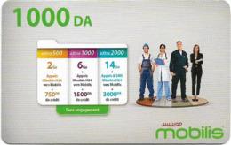 Algeria - Mobilis - Offers Panel & People, Exp.06.02.2019, GSM Refill 1.000DA, Used - Algeria