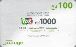 Algeria - Mobilis - Pixx (Arabic Text), Exp.06.02.2019, GSM Refill 1.000DA, Used - Algérie