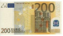 """200 EURO  """"X""""   Firma TRICHET    E 001 A1  X03  /   FDS - UNC - EURO"""