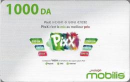 Algeria - Mobilis - Pixx (English Text), Exp.06.02.2019, GSM Refill 1.000DA, Used - Algerien