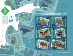 Russia. Peterspost. World Stamp Champoinship Exhibition PHILATAIPEI2016.Fauna Of The Baltic Sea Region On Stamps.block - 1992-.... Federation