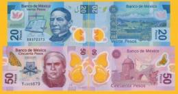 Mexico Set 20, 50 Pesos 2016-2017 UNC Banknotes - Mexico