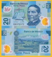 Mexico 20 Pesos P-122 2017 (Serie AD) UNC Polymer Banknote - Mexico
