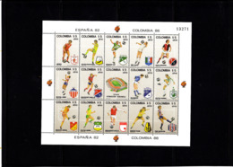 Soccer World Cup 1982 - COLOMBIA - Sheet MNH - Coupe Du Monde