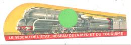 """Marque-pages Publicitaire  -  """" Réseau De L'Etat """"   Train, Tourisme, Normandie, Bretagne, Sud-Ouest   (b260/4) - Bladwijzers"""
