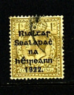 IRELAND/EIRE - 1922  1s OVERPRINTED  THOM  SG 43 FINE USED - 1922 Governo Provvisorio