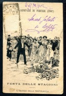 CV2964 FIRENZE (FI) Carnevale Di Firenze 1902, Festa Delle Stagioni, Il Giuoco Della Pentolaccia, FP, Viaggiata 1902 Per - Firenze