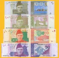 Pakistan Set 5, 10, 20, 50 Rupees 2008-2019 UNC Banknotes - Pakistan