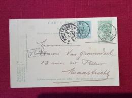 Liège Belgique Carte Postale Entier Postal Cachet 1904 Envoyé à Maastricht Recto Verso - Entiers Postaux