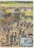 CARTE MAXIMUM CM Card USSR RUSSIA Napoleon France Borodino Art Painting Cavalry Rubo - 1923-1991 USSR