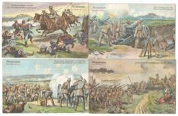 4 Cartes De Croquis De Terrain (feldskizze Handkolorit) De Combats Allemands 14-18- Metz - Maubeuge - Anvers -St-Quentin - War 1914-18
