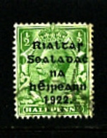 IRELAND/EIRE - 1922  1/2d OVERPRINTED HARRISON FOR USE IN COILS  SG 26 FINE USED - 1922 Governo Provvisorio
