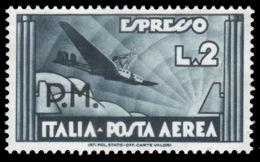 Italia Regno – Posta Militare / Espresso Aereo: Lire 2 Ardesia - 1942 - 1900-44 Vittorio Emanuele III