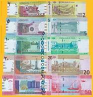 Sudan Set 2, 5, 10, 20, 50 Pounds 2017-2018 UNC Banknotes - Soudan