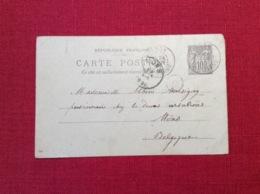 Wassy 52 Haute Marne Carte Postale Entiers Postaux écrite Et Voyagèe En 1899 Type Sage Philatélie - Cartoline Postali E Su Commissione Privata TSC (ante 1995)