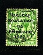 IRELAND/EIRE - 1922  1/2d  OVERPRINTED THOM  WIDER DATE  SG 47 FINE USED - 1922 Governo Provvisorio