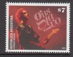 2015 Argentina Gustavo Rock Music Guitar  Complete Set Of 1 MNH - Neufs