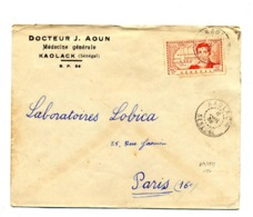 Lettre Cachet Koalack Sur Caillé - A.O.F. (1934-1959)
