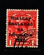 IRELAND/EIRE - 1922  1d  OVERPRINTED THOM  WIDER DATE  SG 48 FINE USED - 1922 Governo Provvisorio