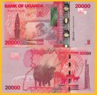 Uganda 20000 (20,000) Shillings P-53d 2017 UNC Banknote - Oeganda