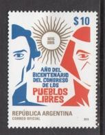 2015 Argentina Bicentenary Free People Congress   Complete Set Of 1 MNH - Ungebraucht