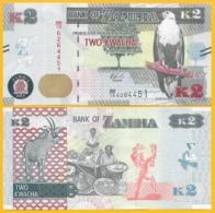 Zambia 2 Kwacha P-56 2018 UNC Banknote - Zambia
