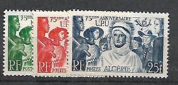 Algérie 1949 Yvert 276/78 Neufs** MNH (AA139) - Unused Stamps