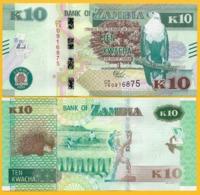 Zambia 10 Kwacha P-58 2018 UNC Banknote - Zambia