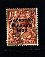 IRELAND/EIRE - 1922   FREE STATE  1 1/2d  SG 54 FINE USED - Usati