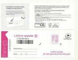 ADHESIF CIAPPA LETTRE SUIVIE NOUVEAU MODELE  Fond Pointillé  Cote  12.euros - Luchtpost