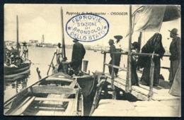 CV2971 CHIOGGIA (Venezia VE) Approdo Di Sottomarina, Bella Animazione, FP, Viaggiata 1913 Per Trieste, Ottime Condizioni - Chioggia