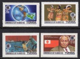 TONGA - 1983 COMMONWEALTH DAY SELF-ADHESIVE SET (4V) FINE MNH ** SG 839-842 - Tonga (1970-...)