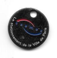 Jeton De Caddie  Ville, SAEMES, Le  Stationnement  De  La  Ville  Da  PARIS  ( 75 ) - Munten Van Winkelkarretjes