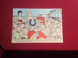 Jean Bellus Illustrateur J Irais Bien à L Eau ....baigneurs Humour , Fantaisie Carte Recto Verso - Illustrators & Photographers