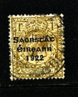 IRELAND/EIRE - 1922   FREE STATE  1s  SG 63  FINE USED - Usati
