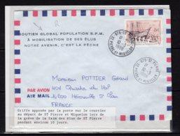 Saint-Pierre Et Miquelon Lettre Avec Griffe Spéciale Apposée Par La Poste Lors De La Gréve De La Faim Lot 24-123 - St.Pierre & Miquelon