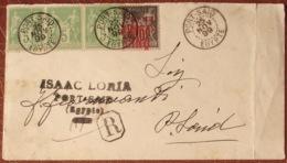Port Said 1899: Enveloppe Avec Michel-No.16 VINGT-CINQ Sur R-lettre Locale Avec Oblitération PORT SAID 25 NOV 99 EGYPTE - Lettres & Documents