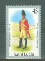 St Lucia: 1985   Military Uniforms  SG803   45c    MNH - St.Lucia (1979-...)