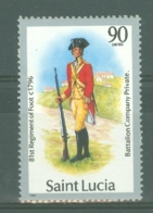 St Lucia: 1985   Military Uniforms  SG807   90c    MH - St.Lucia (1979-...)