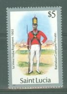 St Lucia: 1985   Military Uniforms  SG810   $5    MH - St.Lucia (1979-...)