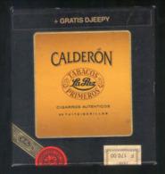 BOITE CARTON DE 20 CIGARES CALDERON . TABACOS  LA PAZ . BOITE DE COLLECTION AVANT LES ANNEES 2000 - Sigarenkokers
