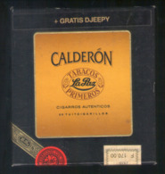 BOITE CARTON DE 20 CIGARES CALDERON . TABACOS  LA PAZ . BOITE DE COLLECTION AVANT LES ANNEES 2000 - Zigarrenetuis