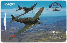 New Zealand - Fund Cards - Warbirds Planes - Mitsubishi Zero And Corsair, 1994, 5$, 14.500ex, Used - Neuseeland