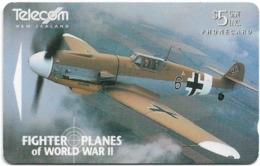 New Zealand - Dealer Cards - Fighter Planes '95 - Messerchmitt Bf 109G-2 Trop, 1995, 5$, 7.250ex, Used - Neuseeland